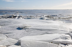 Ice on the  Gulf of Finland in March Royalty Free Stock Photography