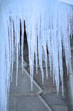 Ice hanging on the church in winter of NH Royalty Free Stock Photos