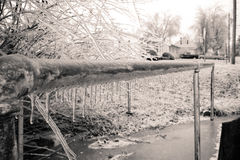 ICE on the Pathway Royalty Free Stock Images
