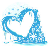 Ice heart Stock Photography