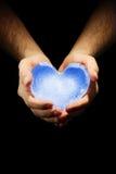 Ice heart Stock Image