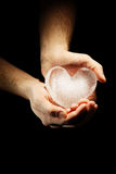 Ice heart Stock Image