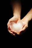 Ice heart Royalty Free Stock Photo