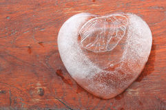 Ice heart shape. Royalty Free Stock Images