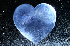 Ice heart valentine Stock Photo