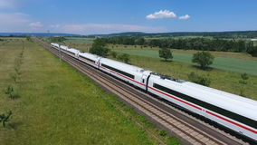 ICE highspeed train stock video footage