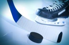 Ice hockey. Still life of ice hockey situation royalty free stock photos