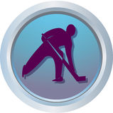 Ice Hockey. Logo or sport emblem of ice hockey Stock Photo