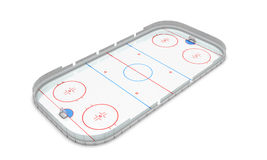 Ice hockey area perspective view Royalty Free Stock Image