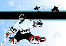 Ice Hockey background Stock Image
