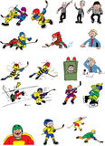 Ice hockey cartoons characters Stock Photography