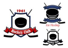 Ice hockey club emblems or badges Royalty Free Stock Photo