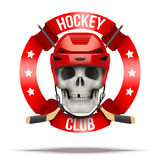 Ice hockey club or team badges and labels logo Stock Images