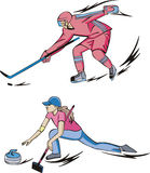Ice Hockey and Curling Royalty Free Stock Photo