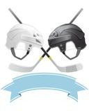 Ice Hockey emblem. With helmets and sticks Stock Photo