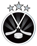 Ice hockey emblem design Stock Photography