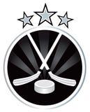 Ice hockey emblem design Stock Photography