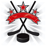 Ice hockey emblem design illustration vector Stock Photos