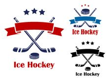 Ice hockey emblems or banners Royalty Free Stock Photography