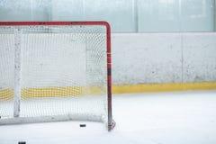 Ice Hockey Empty Net Stock Photography