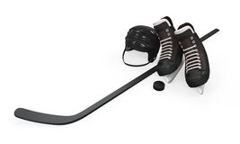 Ice Hockey Equipment Royalty Free Stock Photos