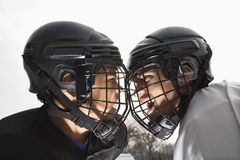 Ice hockey face off. Royalty Free Stock Photos
