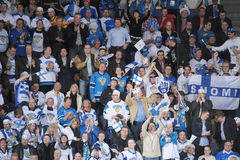 Ice hockey fans Royalty Free Stock Photos