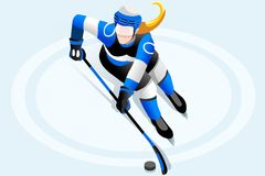 Ice Hockey Female Player Royalty Free Stock Photo