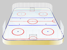 Ice hockey field Royalty Free Stock Images