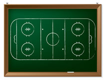 Ice hockey field drawn on chalkboard. Ice hockey field drawn by hand on chalkboard Royalty Free Stock Photography