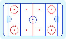 Ice hockey field greetings card vector Royalty Free Stock Photography