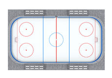 Ice Hockey Field Isolated. On white background. 3D render Stock Photography