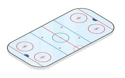 Ice hockey field isolated on white background. Vector illustration Royalty Free Stock Photography