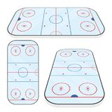 Ice hockey field isolated on white background. Vector illustration Stock Image
