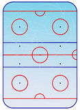 Ice hockey field  scheme. Royalty Free Stock Photography