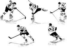 Ice hockey figures Royalty Free Stock Photos