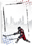 Ice hockey frame vector illustration