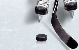 Ice Hockey Game With Copy Space Royalty Free Stock Images