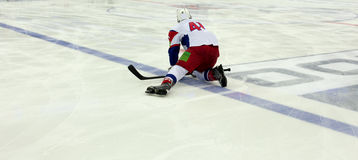 Ice Hockey Game Stock Images