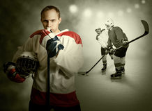 Ice hockey game moment Stock Image