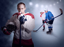 Ice hockey game moment Stock Photography