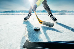 Ice hockey game moment royalty free stock photography