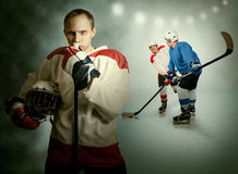Ice hockey game moment Stock Photo