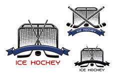Ice hockey game sports symbols Stock Images