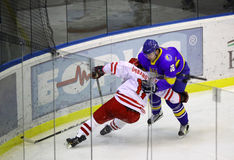 Ice-hockey game Ukraine vs Poland Stock Photography