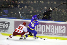 Ice-hockey game Ukraine vs Poland Stock Photo