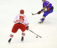 Ice-hockey game Ukraine vs Poland Stock Photography