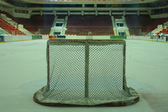 Ice hockey goal Stock Photography
