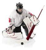 Ice hockey goalie stock image