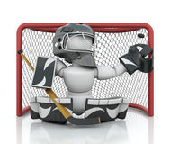 Ice hockey Goalie Royalty Free Stock Image